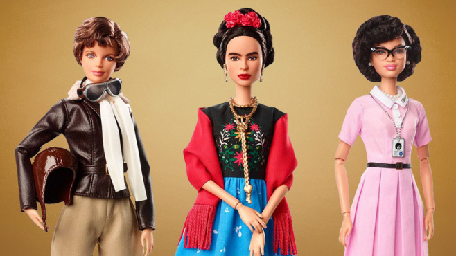Amelia Earhart, Frida Kahlo und Katherine Johnson als Barbie-Puppen ©iStock.com/FGorgun, Barbie