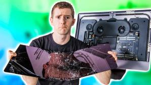 Linus Sebastian mit defektem iMac Pro ©Screenshot YouTube-Kanal Linus Sebastian