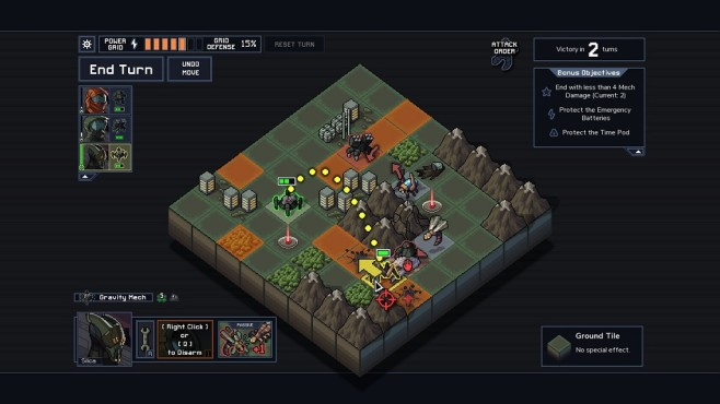 Into the Breach Interface © Subset Games