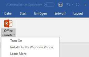 Microsoft Office Remote