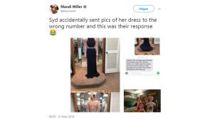 Twitter: Warum dieses Kleid ein Leben rettete ©Twitter / Mandi Miller