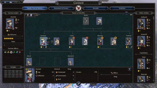 Total War Saga – Thrones of Britannia: Stammbaum © Sega/Creative Assembly