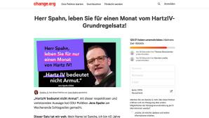 Petition gegen Jens Spahn ©change.org/Sandra S.