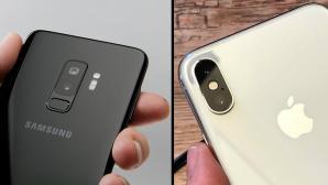 Apple iPhone X oder Samsung Galaxy S9 Plus: Wer schießt die besten Fotos? Auf Basis von Labor- und Praxis-Tests treten die Top-Smartphones zum Kamera-Duell an. ©COMPUTER BILD