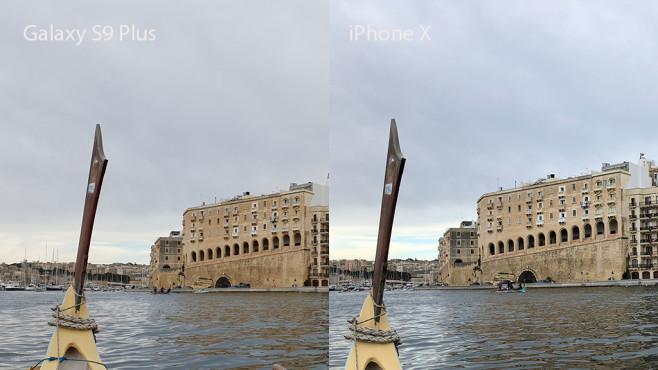 Apple iPhone X oder Samsung Galaxy S9 Plus: Wer schießt die besten Fotos? Galaxy S9 vs. iPhone X: Tagesaufnahme bei bewölktem Himmel. ©COMPUTER BILD