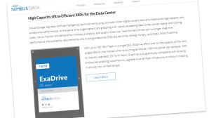 SSD ExaDrive ©Screenshot Webseite www.nimbusdata.com