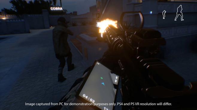 "Klassisches Vier-gegen-Vier-Geballer gibt's im VR-Taktik-Shooter ""Firewall Zero Hour"". ©First Contact Entertainment"