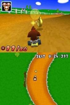 Mario Kart DS: Im Aufgabenmodus d�rfen Sie rasen und dabei M�nzen sammeln.