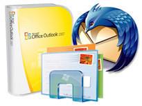 E-Mail-Clients ©Microsoft, Mozilla