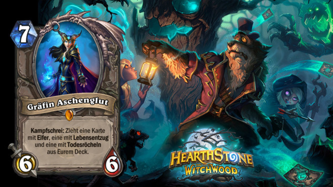 """Hearthstone – Der Hexenwald: Die besten Karten Starker Body mit gleichzeitigem Carddraw – """"Gräfin Aschenglut"""" ist ein echtes Allroundtalent. ©Blizzard"""