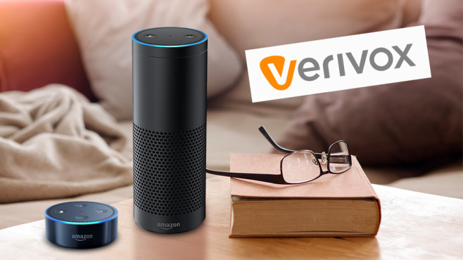 Amazon Echo und Echo Dot bei Verivox © Amazon, Verivox, ©istock.com/wernerimages
