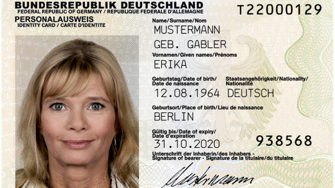 Deutscher Personalausweis ©Bundesministerium des Innern