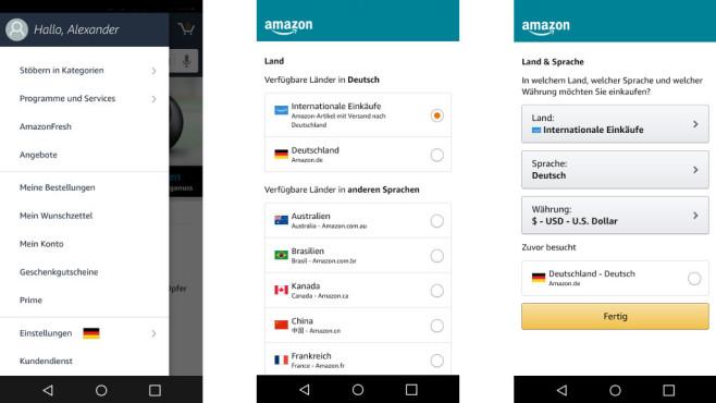 amazon versand international