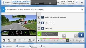 Führerschein-Test online ©COMPUTERBILD, www.fahrenlernenmax.de