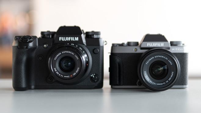 Fujifilm X-T100 im Vergleich mit Fujifilm X-H1 ©COMPUTER BILD