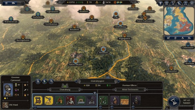 Total War Saga – Thrones of Britannia: Regionen einer Provinz © Sega/Creative Assembly