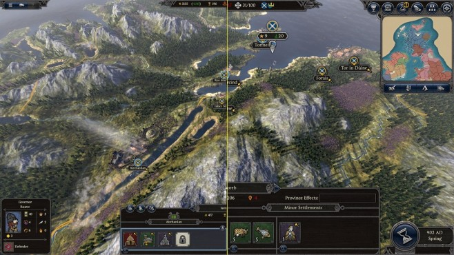 Total War Saga – Thrones of Britannia: UI-Scale © Sega/Creative Assembly