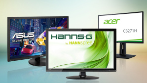 Ful HD-Monitor Test©iStock.com/atakan, ASUS, ACER, HANNSPREE