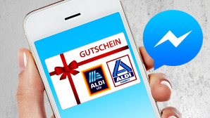 Gutschein-Fake © Facebook, stockyimages - Fotolia.com, Aldi