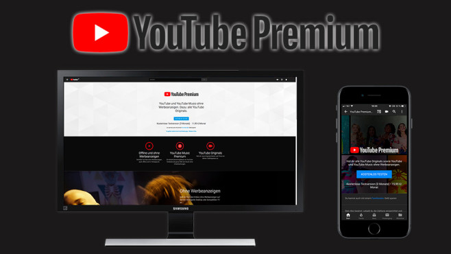 YouTube Premium © YouTube, Google, Samsung, Apple