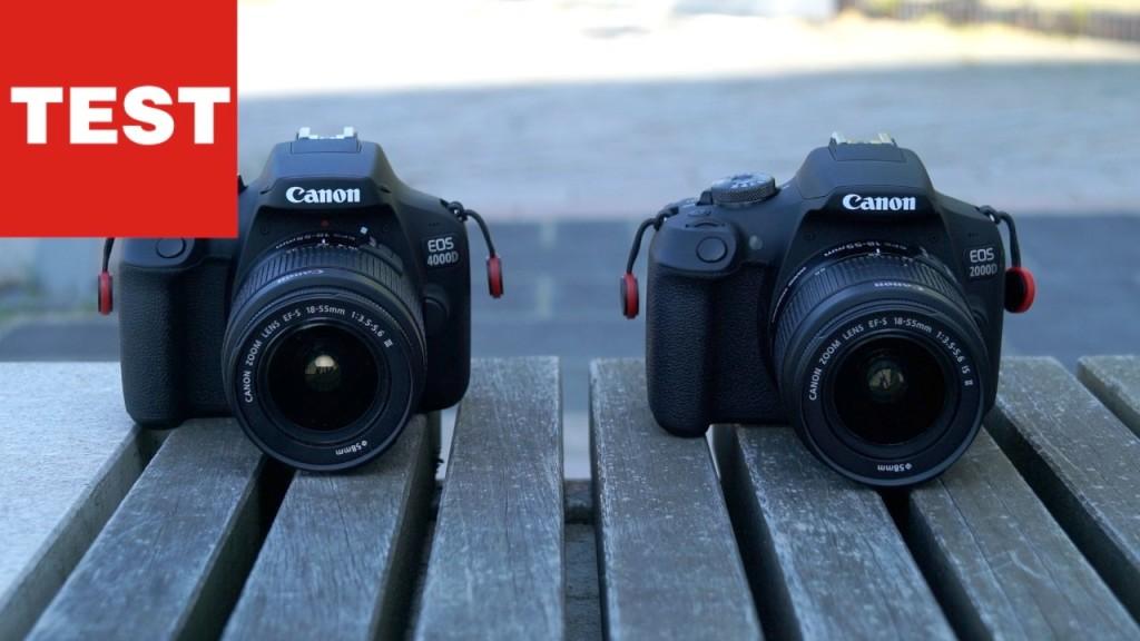 Canon EOS 4000D und 2000D: Der Vergleichstest