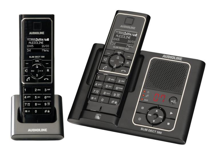 Audioline stellt schnurloses Telefon Slim DECT 500/580 vor ...
