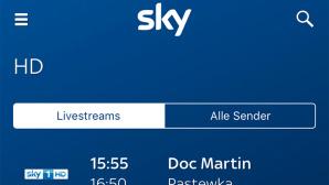 Sky-Go-App neue Sender Livestream ©Sky, COMPUTER BILD