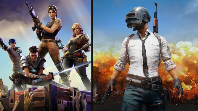 Fornite vs. PUBG ©Epic Games / PUBG Corp. / Montage