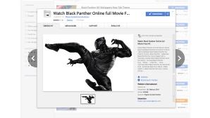 Black Panther im Web Store ©Google Chrome Web Store
