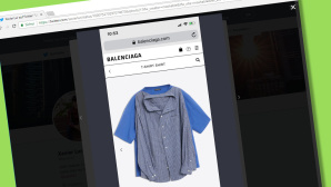 T-Shirt Shirt von Balenciaga ©Screenshot Twitterangebot Balenciaga