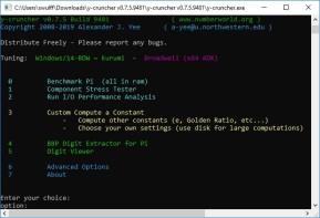 Y-Cruncher Benchmark (Pi berechnen)