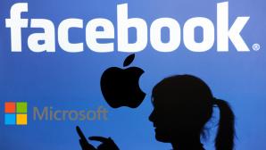 Facebook-Logo©dpa-Bildfunk, Microsoft, Apple