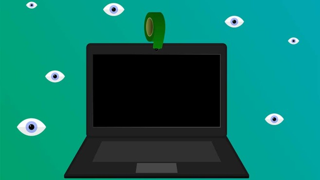 Notebook: Webcam abkleben ©pixabay