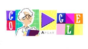 Google Doodle: Virginia Apgar ©Google