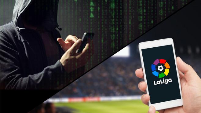 Smartphone mit La-Liga-App ©La Liga, iStock.com/Artsanova