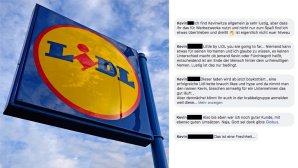 Fotomontage der Facebook-Posts © Lidl