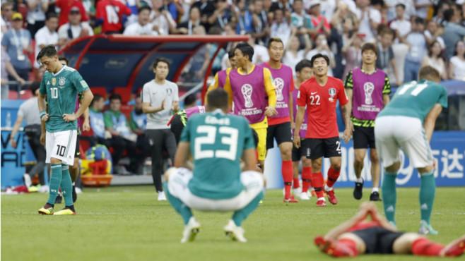 Südkorea gegen Deutschland: Nach Schlusspfiff ©kyodo/dpa-Bildfunk