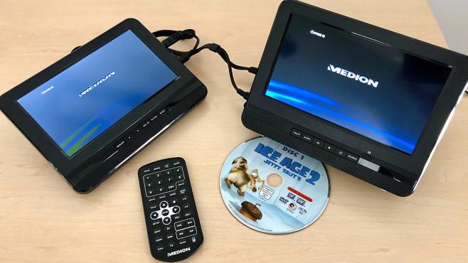 portabler dvd player medion life e72053 im test audio. Black Bedroom Furniture Sets. Home Design Ideas