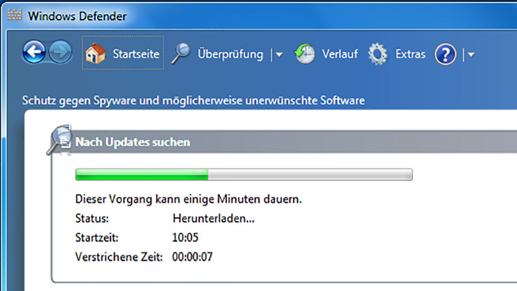 Windows 7: Update issues with Windows Defender