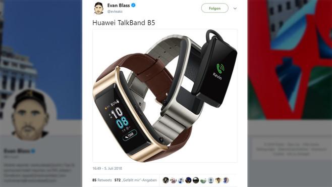 Huawei TalkBand B5 ©Twitter / Evan Blass