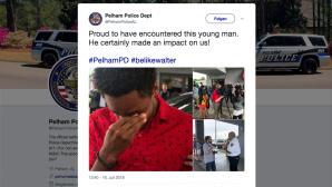 Pelham Police Department: Tweet über Walter Carr ©Pelham Police Department/Twitter