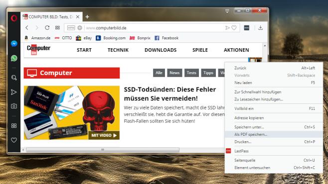 Opera: PDF-Dateien speichern©COMPUTER BILD