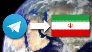 Telegram-Nachrichten über den Iran versendet©Telegram/WikiImages/pixabay.com