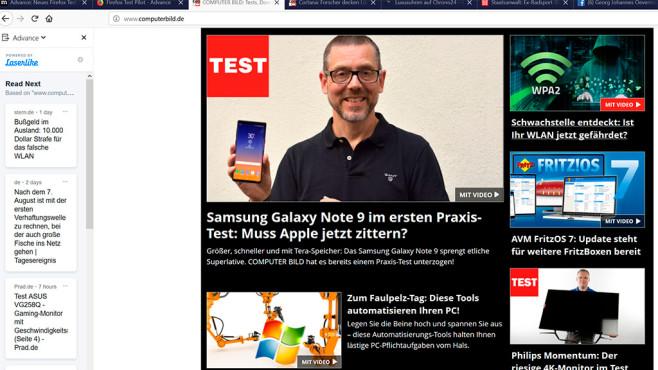 Neue Erweiterung für Firefox im Test©COMPUTER BILD