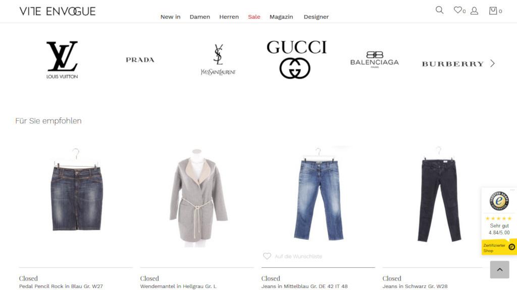 Vite En Vogue: Rabatt auf Secondhand-Designermode