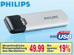 4 Gigabyte USB-Speicherstift von Philips bei Lidl Auf den USB-Speicherstift von Philips passen 4 Gigabyte Daten.