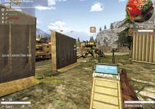 Enemy Territory – Quake Wars: Gegnerische Stellungen, wie das Anti-Panzer-Geschütz der Stroggs, lassen sich am besten mit einer Sprengladung zerstören.