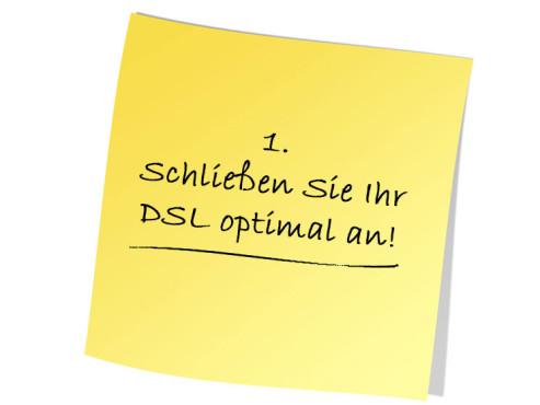 Schließen Sie Ihr DSL optimal an ©Pic.sell - Fotolia.com