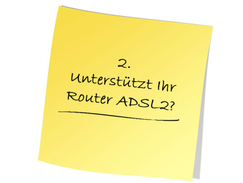 Unterst�tzt Ihr Router ADSL2? © Pic.sell - Fotolia.com