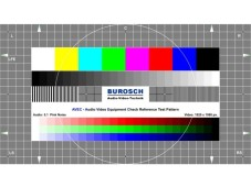 Testbild des Burosch Audio Video Equipment Check. © Burosch